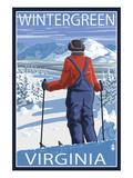 Wintergreen  Virginia - Skier Admiring View