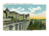 Quebec  Canada - Chateau Frontenac Overlooking Lower Town Scene