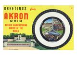 Akron  Ohio - Rubber Manufacturers Firestone  Goodrich  Goodyear