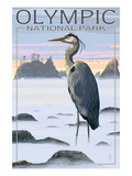 Olympic National Park - Heron and Fog Shorline