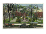 Syracuse  New York - Cars Parked around Fayette Park