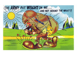 Army Puts on Weight  Not Round the Waist