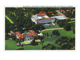 San Marino  California - Aerial View of the Henry E Huntington Library and Art Gallery
