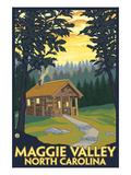Maggie Valley  North Carolina - Cabin Scene