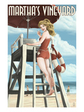 Martha's Vineyard  Massachusetts - Pinup Girl Lifegaurd