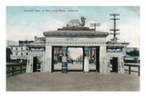 Long Beach  California - View of the Shriners' Gate at the Pier