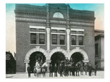 Waterloo  Iowa - Exterior View of Central Fire Station