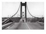 Tacoma  Washington - November 7  1940 - Tacoma Narrows Bridge - Man on Bridge
