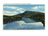 Chattanooga  Tennessee - View of Lookout Mountain from the Tennessee River