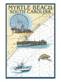 Myrtle Beach  South Carolina - Nautical Chart