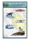 San Juan Island  Washington - Nautical Chart