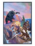 Bear Hunting Scene