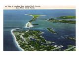 Anna Maria Island  Florida - Aerial View of Island  Longboat Key