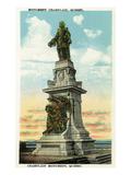 Quebec  Canada - Champlain Monument Scene