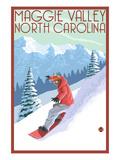 Maggie Valley  North Carolina - Snowboarder