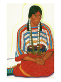 Portrait of Mountain Flower  a Blackfeet Maiden