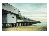 Long Beach  California - View of the Pier from Beach