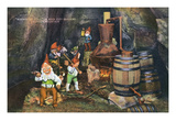 Lookout Mountain  Tennessee - Fairyland Caverns  Interior View of Gnomes at a Moonshine Still