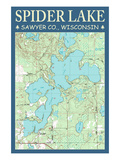Spider Lake Chart - Sawyer County  Wisconsin