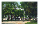 Dunellen  New Jersey - View of Park and Railroad Station