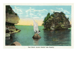 Lake Superior  Wisconsin - Apostle Islands  Gem Island Scene