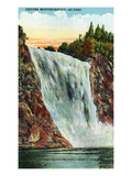 Quebec  Canada - Montmorency Falls Scene