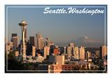 Seattle  Washington - Skyline and Rainier