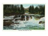 Eagle River  Wisconsin - Ontanogan Falls Scene