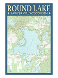 Round Lake Chart - Sawyer County  Wisconsin