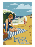Laguna Beach  California - Woman on the Beach