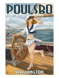 Poulsbo  Washington - Sailor Pinup Girl
