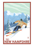 New Hampshire - Downhill Skier