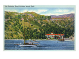 Santa Catalina Island  California - St Catherine Hotel View from Water