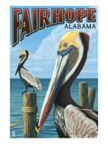 Fairhope  Alabama - Pelican Scene