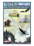 Sitka  Alaska - Nautical Chart