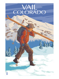 Vail  CO - Skier Carrying Skis
