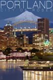 Portland  Oregon - Skyline at Night