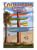 Redondo Beach  California - Destination Sign