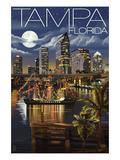 Tampa  Florida - Skyline at Night