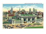 Kansas City  Missouri - Union Station and Skyline View