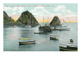 Santa Catalina Island  California - Sugar Loaf and Glass Bottom Boats View