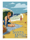 Santa Monica  California - Woman on the Beach