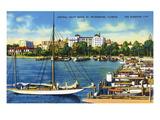 St Petersburg  Florida - Central Yacht Basin Scene