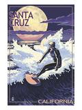 Santa Cruz  California - Night Surfer