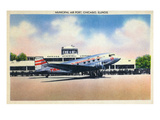 Chicago  Illinois - Transcontinental Airplane at Municipal Airport