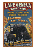 Lake Geneva  Wisconsin - Black Bears