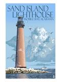 Sand Island Lighthouse - Mobile Bay  Alabama