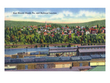 Jim Thorpe  Pennsylvania - View of East Mauch Chunk and Rr Junction