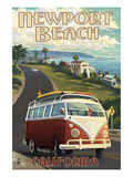 Newport Beach  California - VW Van Cruise