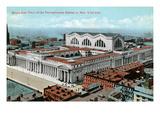 New York City  New York - Aerial View of Penn Station